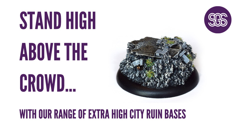 Stand high above the crowd with our range of extra high city ruin bases